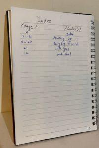 Bullet Journal 子彈筆記術-Index